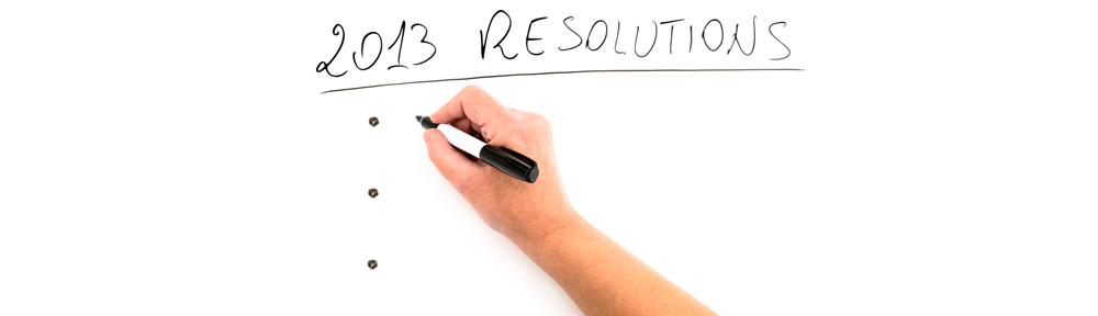 Mes résolutions en 2013