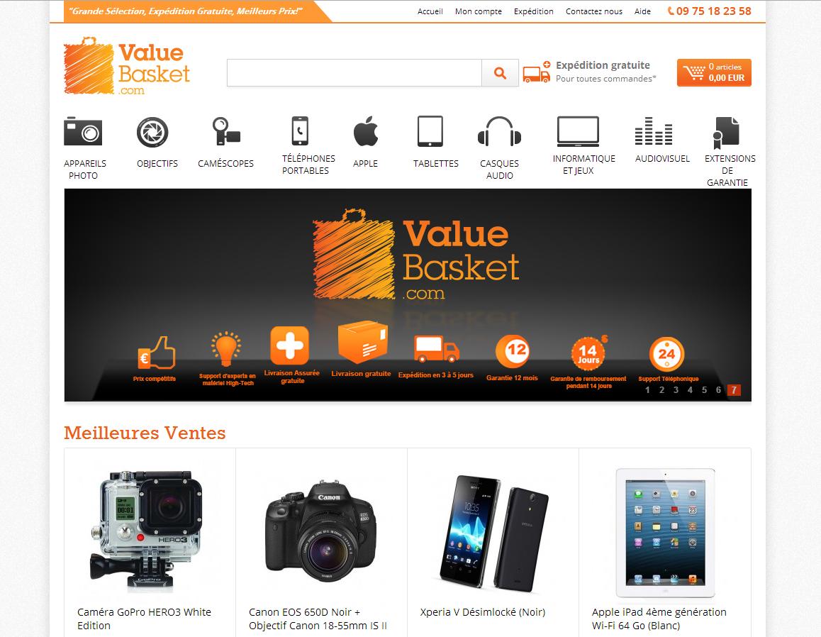 valuebasket-landing-page