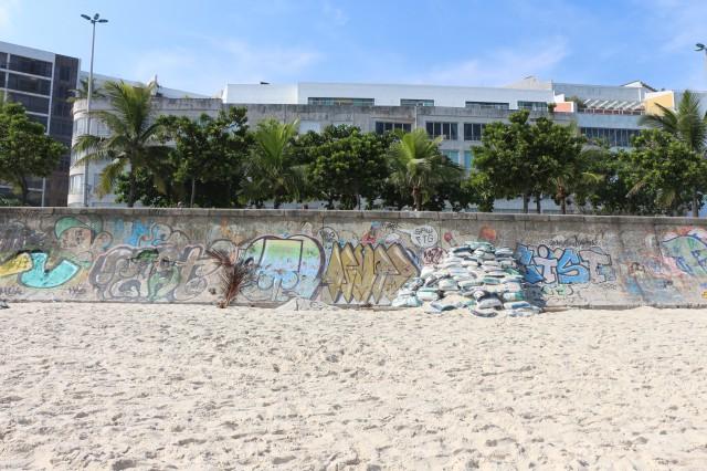 Vu depuis la plage de d'Ipanema