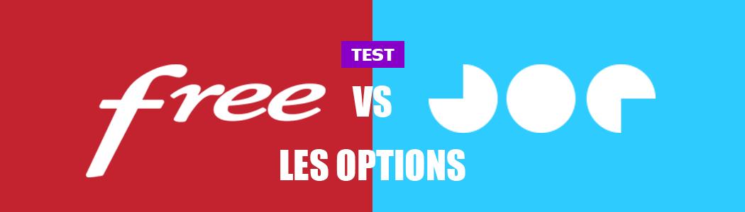 Joe vs Free : les options
