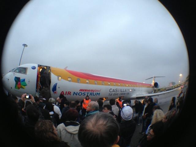 L'avion qui nous emmena à Madrid