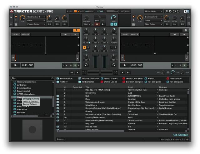 traktor-bpm-import-to-collection
