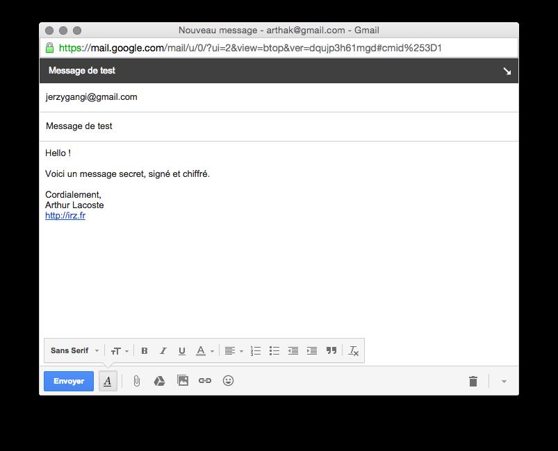 ecrire mail