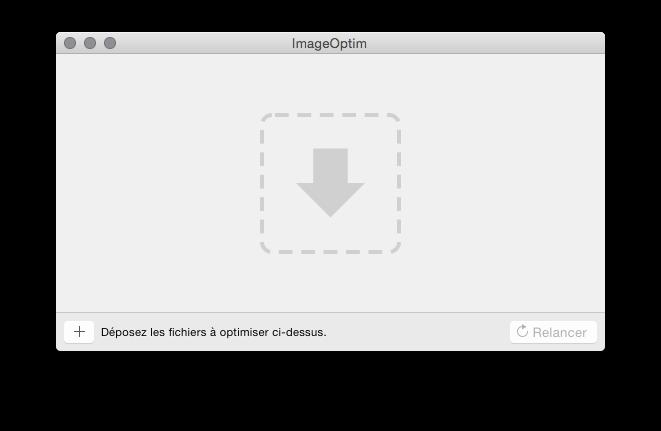 ImageOptim : ajouter des fichiers